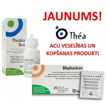 Izmēģini jaunos acu veselības un kopšanas produktus no THEA!